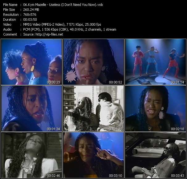 Screenshot of Music Video Kym Mazelle - Useless (I Don't Need You Now)