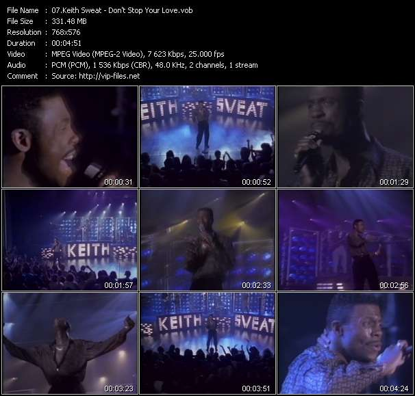 Screenshot of Music Video Keith Sweat - Don't Stop Your Love