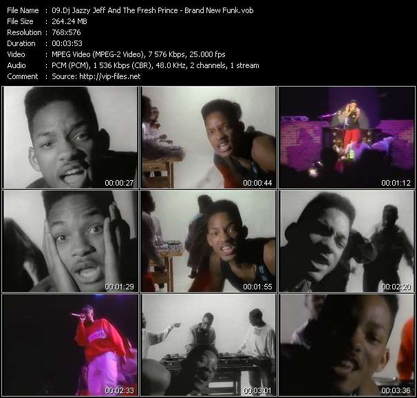 Screenshot of Music Video Dj Jazzy Jeff And The Fresh Prince - Brand New Funk