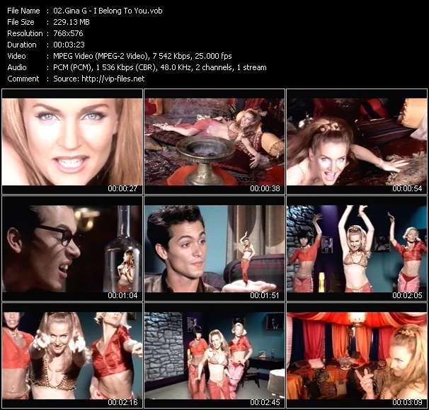 Screenshot of Music Video Gina G - I Belong To You