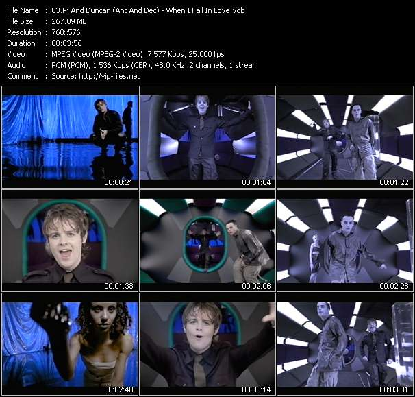 Screenshot of Music Video Pj And Duncan (Ant And Dec) - When I Fall In Love