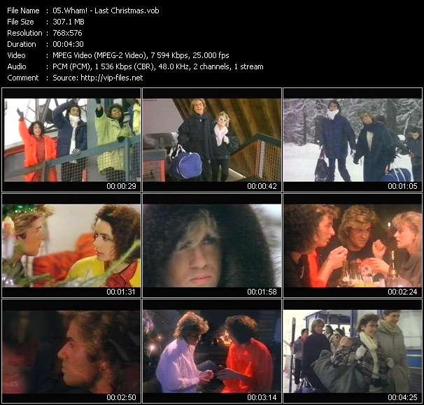 Screenshot of Music Video Wham! - Last Christmas