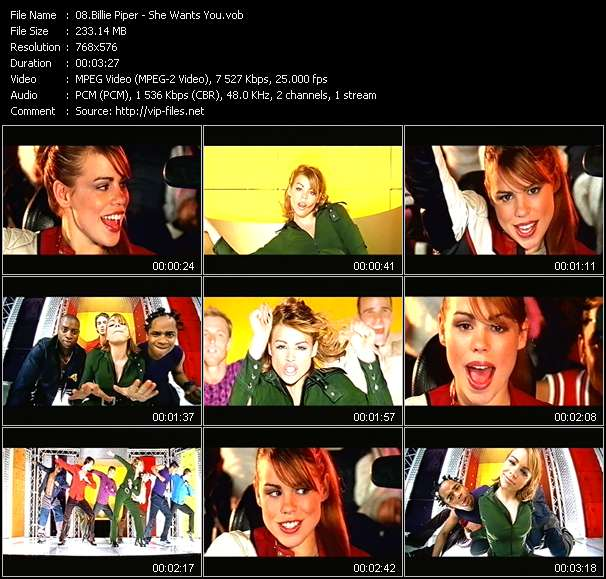 Screenshot of Music Video Billie Piper - She Wants You