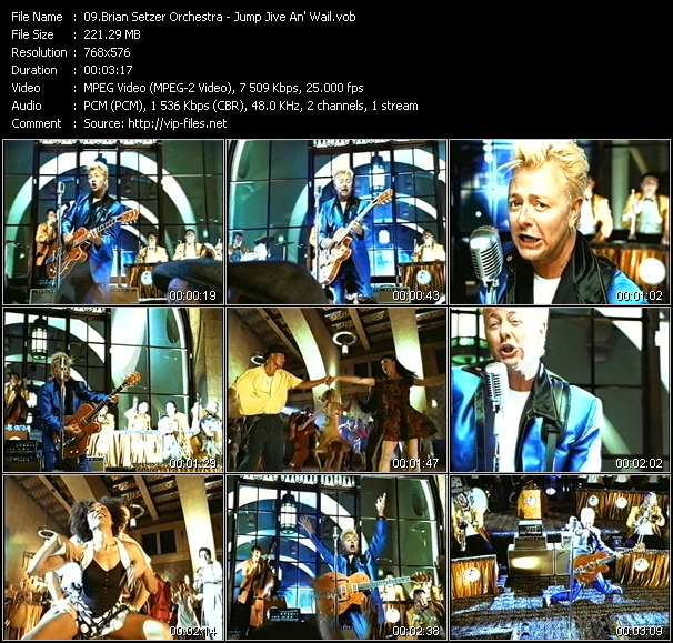 Screenshot of Music Video Brian Setzer Orchestra - Jump Jive An' Wail