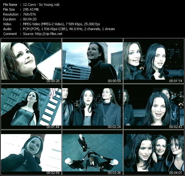 Screenshot of Music Video Corrs - So Young