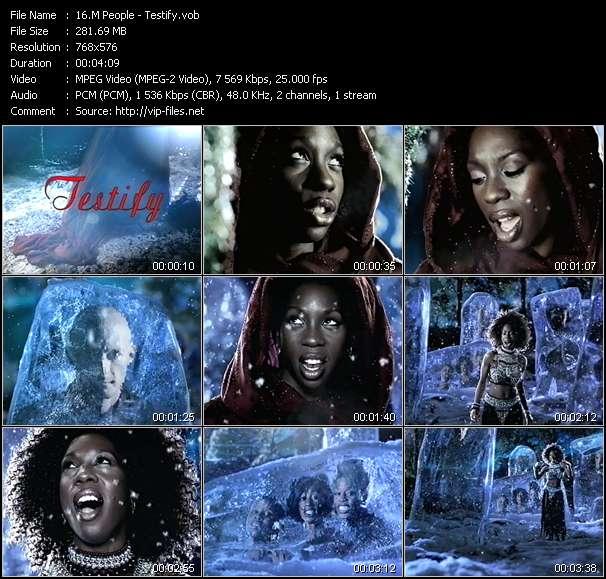 Screenshot of Music Video M People - Testify