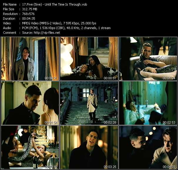 Screenshot of Music Video Five (5ive) - Until The Time Is Through