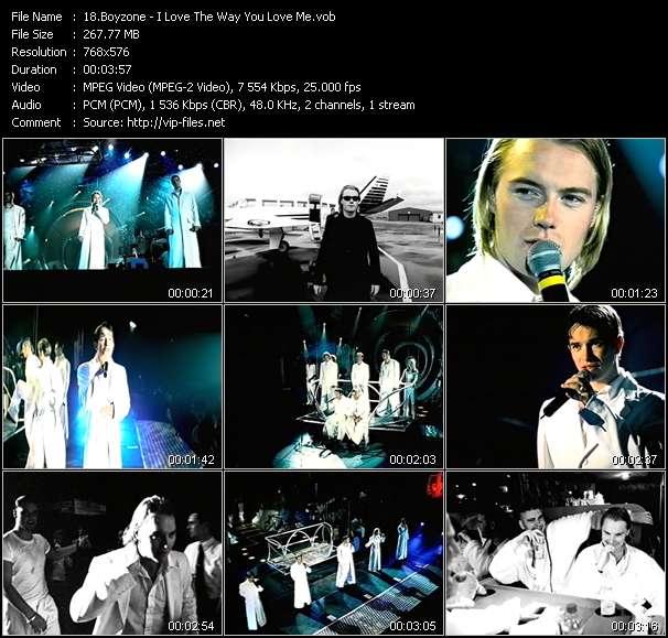 Screenshot of Music Video Boyzone - I Love The Way You Love Me