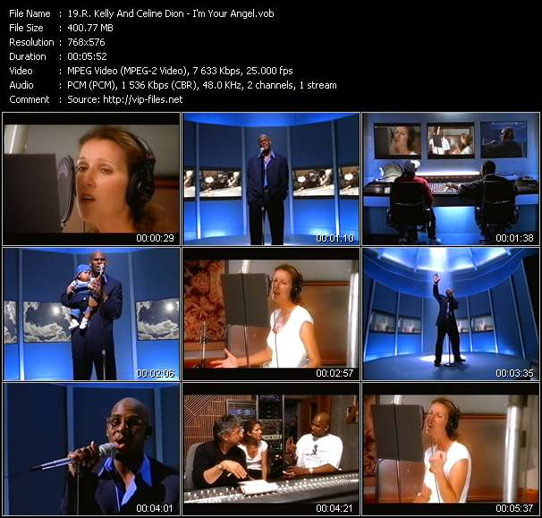 Screenshot of Music Video R. Kelly And Celine Dion - I'm Your Angel