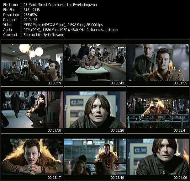 Screenshot of Music Video Manic Street Preachers - The Everlasting