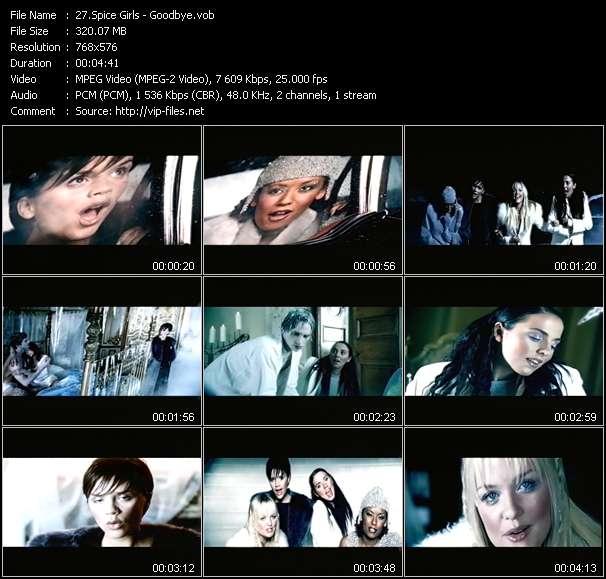 Screenshot of Music Video Spice Girls - Goodbye