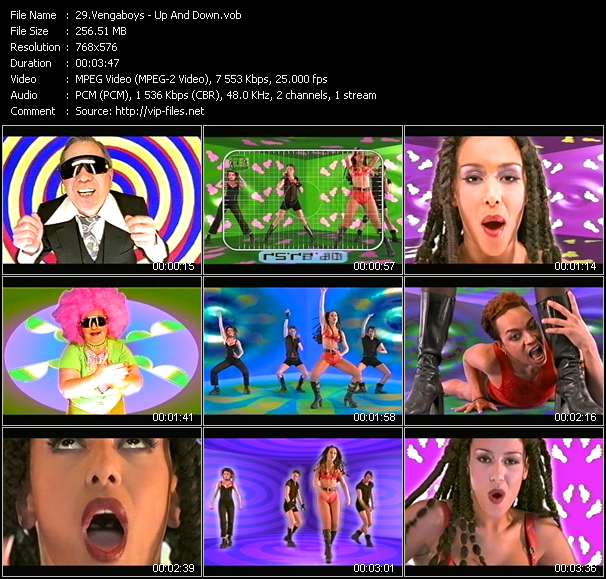 Screenshot of Music Video Vengaboys - Up And Down