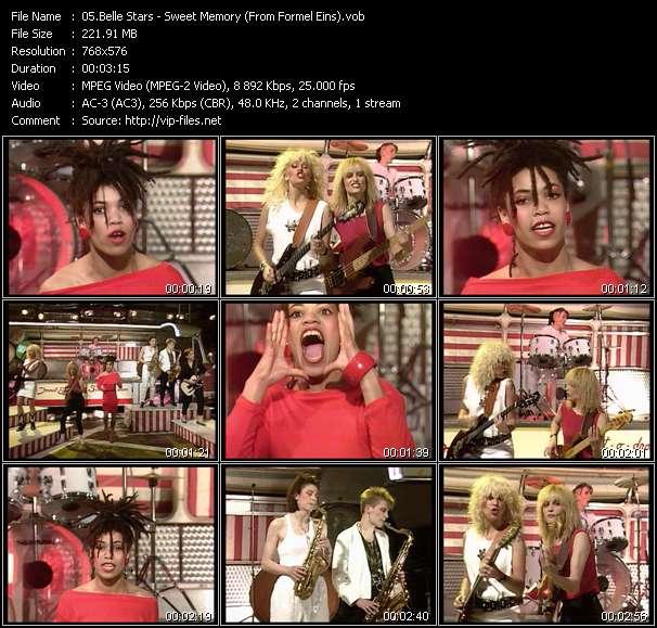 Screenshot of Music Video Belle Stars - Sweet Memory (From Formel Eins)