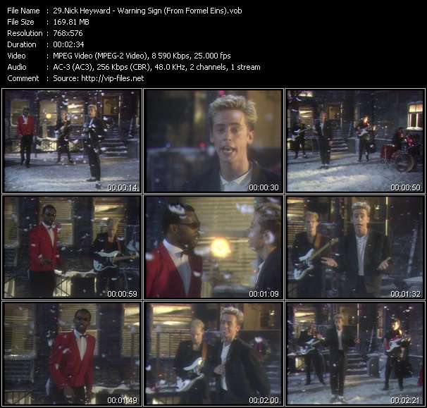 Nick Heyward video vob