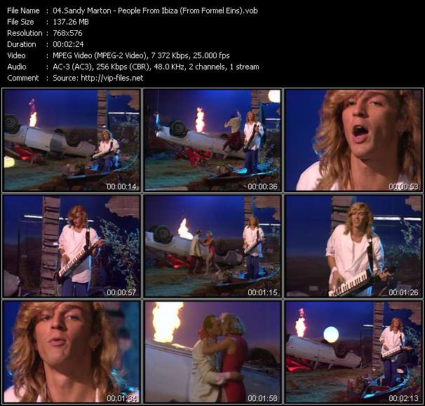 Screenshot of Music Video Sandy Marton - People From Ibiza (From Formel Eins)