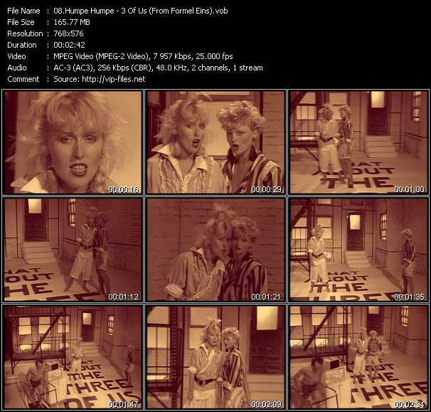 Screenshot of Music Video Humpe Humpe - 3 Of Us (From Formel Eins)