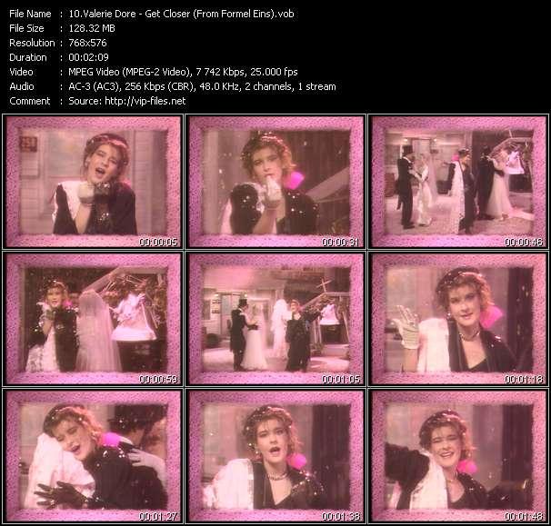 Screenshot of Music Video Valerie Dore - Get Closer (From Formel Eins)