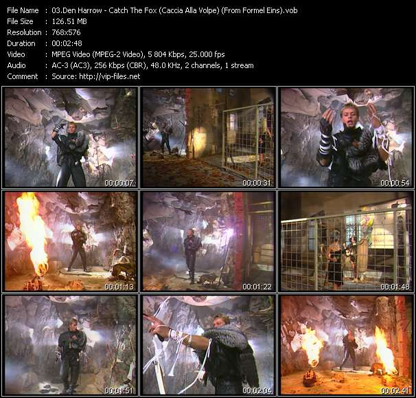 Screenshot of Music Video Den Harrow - Catch The Fox (Caccia Alla Volpe) (From Formel Eins)