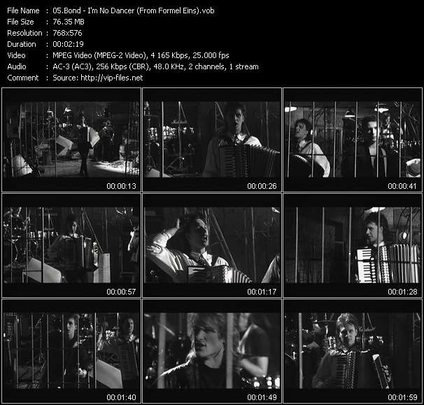 Screenshot of Music Video Bond - I'm No Dancer (From Formel Eins)