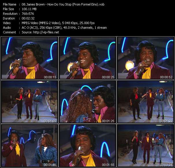 Screenshot of Music Video James Brown - How Do You Stop (From Formel Eins)