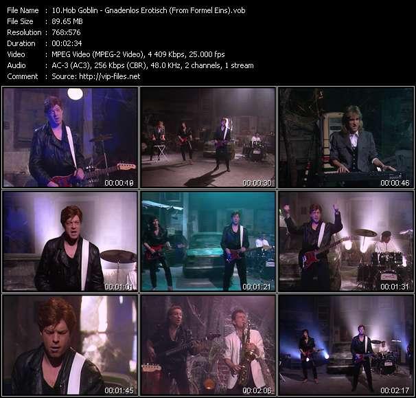 Screenshot of Music Video Hob Goblin - Gnadenlos Erotisch (From Formel Eins)