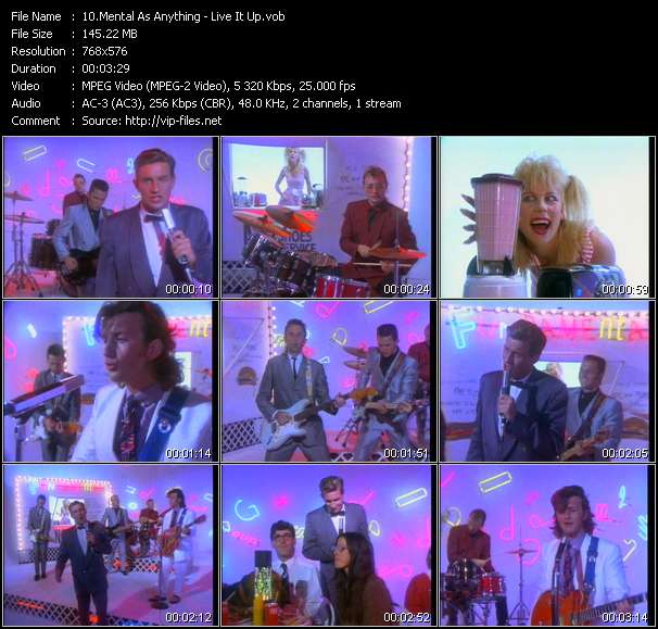 Mental As Anything video vob