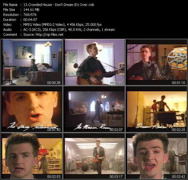 Crowded House video vob