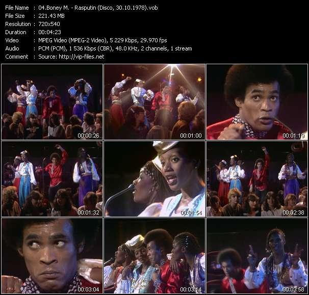 Boney M. video vob