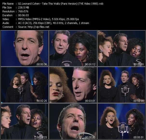 Leonard Cohen видеоклип vob