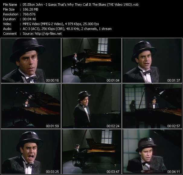Elton John видеоклип vob