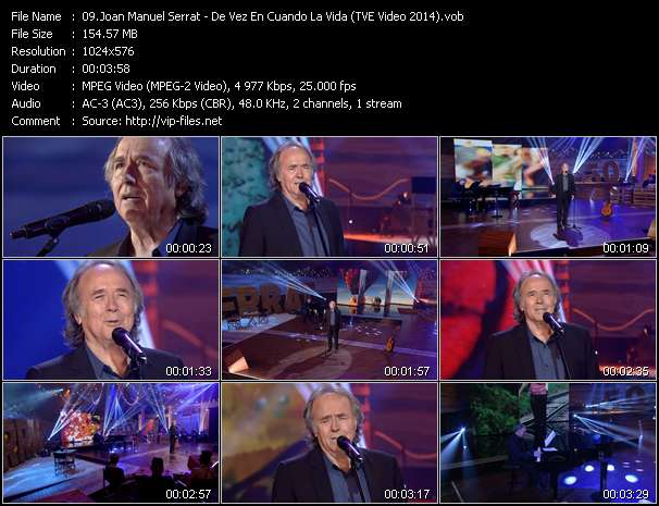 Joan Manuel Serrat video vob