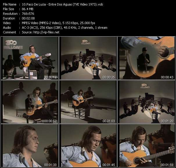 Paco De Lucia video vob