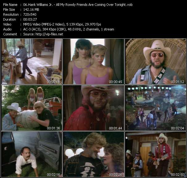 Hank Williams Jr. video vob
