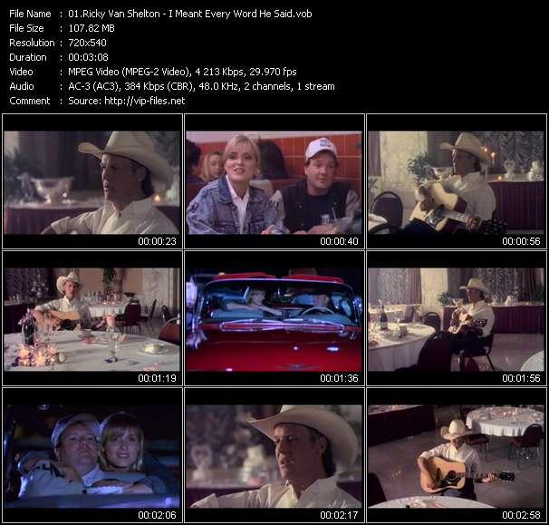 Ricky Van Shelton video vob