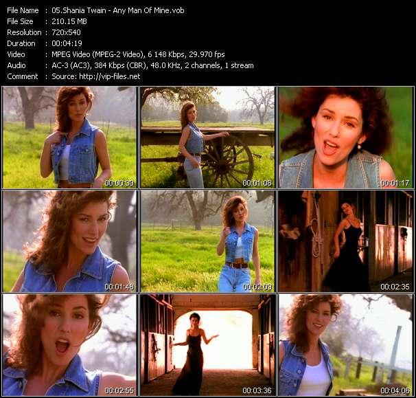 Shania Twain clips musicaux vob