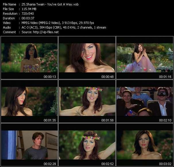 Shania Twain video vob