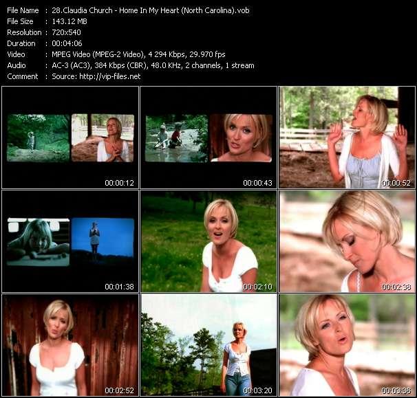 Claudia Church clips musicaux vob