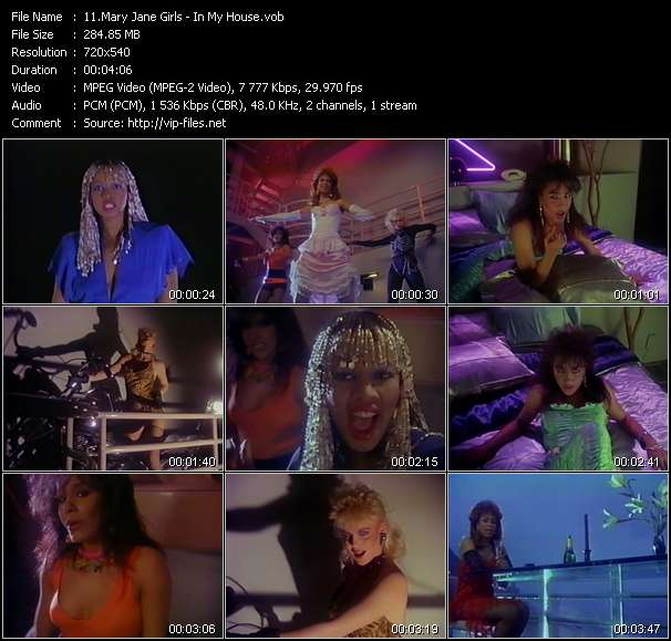 Mary Jane Girls video vob