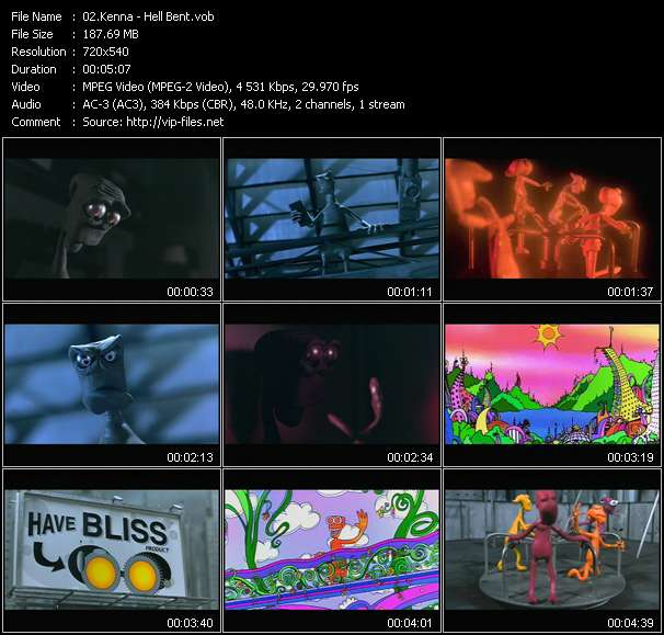 Screenshot of Music Video Kenna - Hell Bent