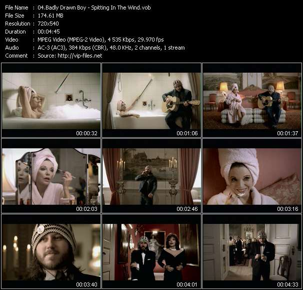 Screenshot of Music Video Badly Drawn Boy - Spitting In The Wind