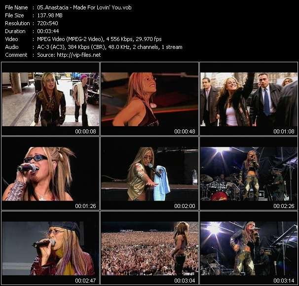 Screenshot of Music Video Anastacia - Made For Lovin' You