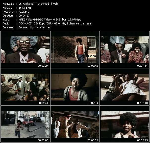 Screenshot of Music Video Faithless - Muhammad Ali