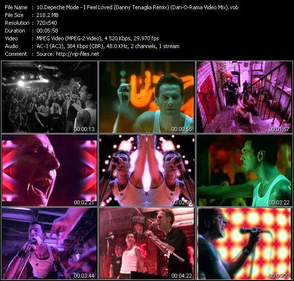 Screenshot of Music Video Depeche Mode - I Feel Loved (Danny Tenaglia Remix) (Dan-O-Rama Video Mix)