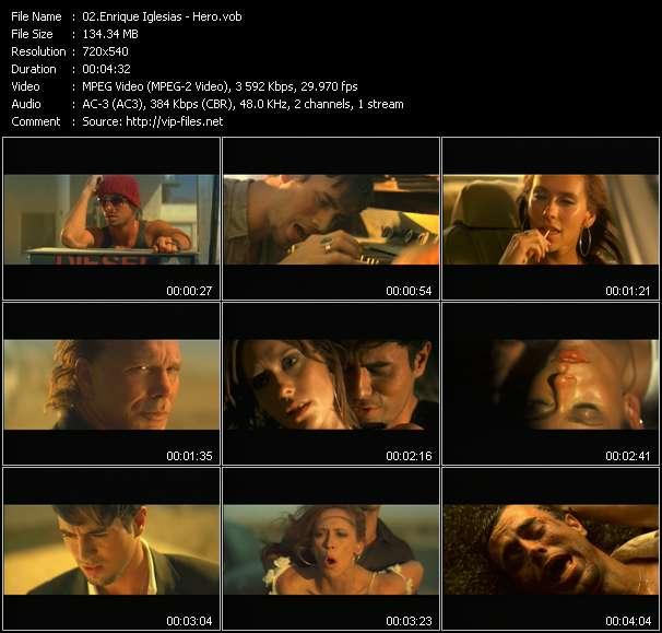 Screenshot of Music Video Enrique Iglesias - Hero