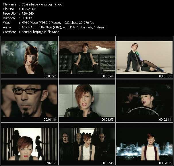 Screenshot of Music Video Garbage - Androgyny