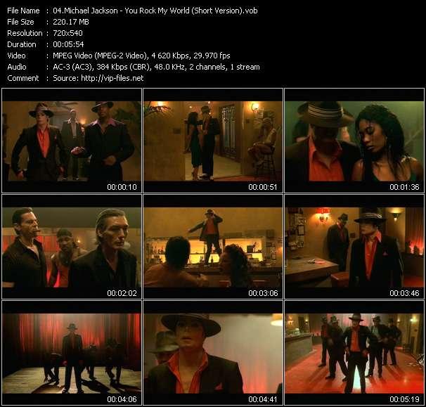 Screenshot of Music Video Michael Jackson - You Rock My World (Short Version)