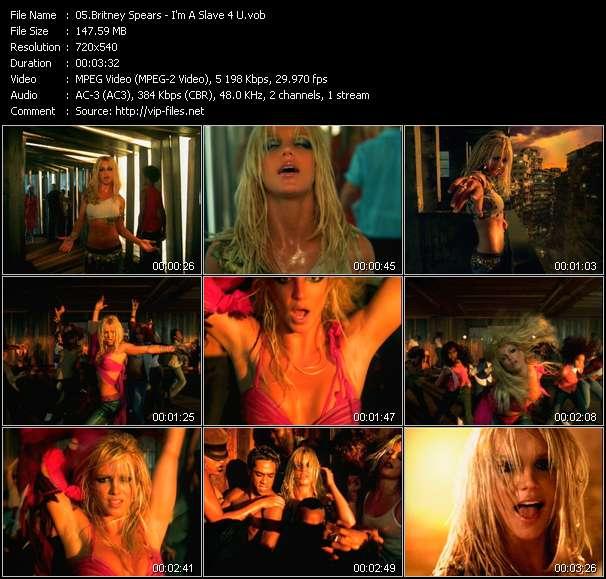 Screenshot of Music Video Britney Spears - I'm A Slave 4 U
