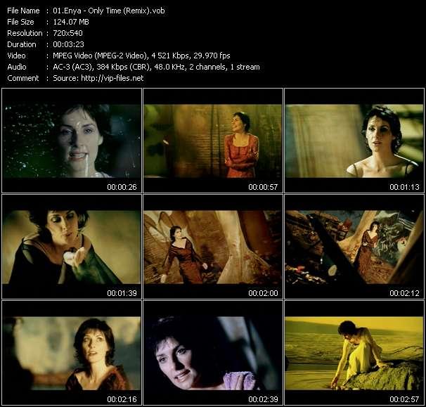 Screenshot of Music Video Enya - Only Time (Remix)