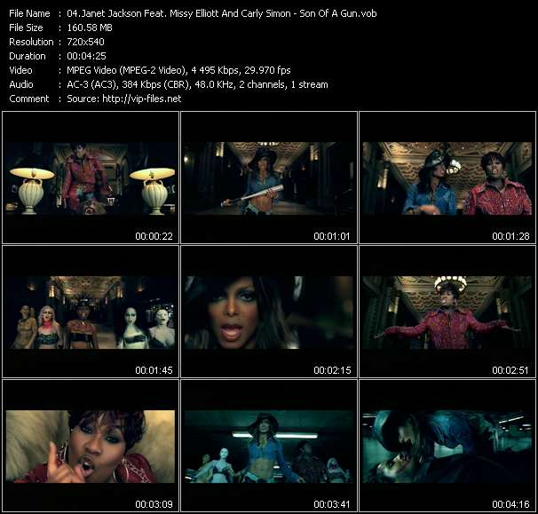 Screenshot of Music Video Janet Jackson Feat. Missy Elliott And Carly Simon - Son Of A Gun (I Betcha Think This Song Is About You)