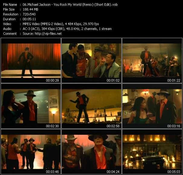 Screenshot of Music Video Michael Jackson - You Rock My World (Remix) (Short Edit)
